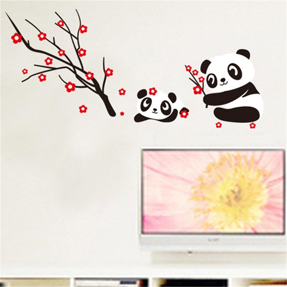 Kaymi Removable wall stickers Cartoon wall stickers baby panda Wall Stickers Children's room decorative wall stickers JM8243