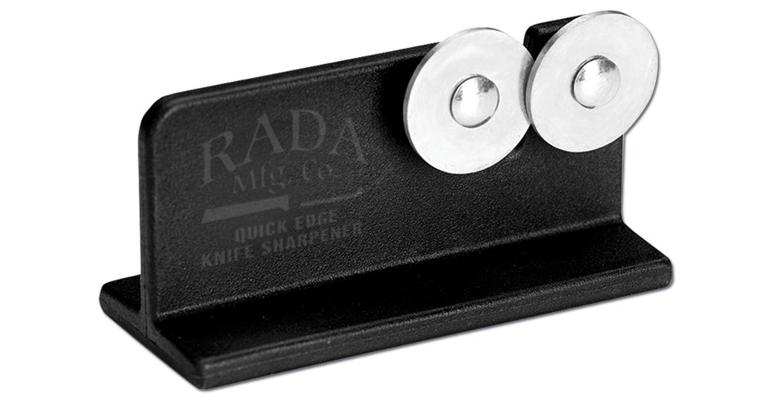 Rada Cutlery Quick Edge Knife Sharpener with Hardened Steel Wheels (Designed for