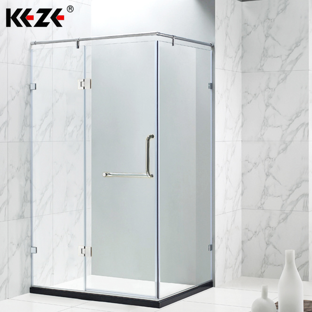Frameless Pivot Hinge Shower Door & Small Aluminium Shower Sliding Glass Door