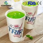 family kid children hot cold drinking take away food china single double ripple wall double pe 9oz handle hot paper cup