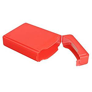 Hard Drive Box - TOOGOO(R)3.5Inch For Hard Drive IDE SATA Full Case Protector Storage Box Plastic (Red)