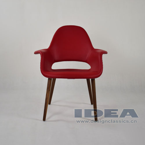 Organic Chair - Red Genuine Leather