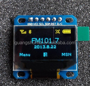 """Yellow/blue 0.96""""128x64 Oled Spi Serial Lcd Led Display Module For ..."""