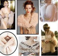 New Trends Faux Fur shrug Shawl Ladies Winter Fashion trendy Scarf