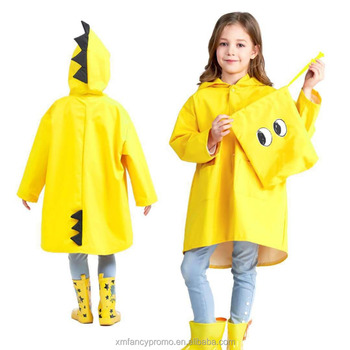 Kids and Toddler One Piece Lightweight Dinosaur Waterproof Coverall Rain Suit With Hooded + Bag Sets For Little Boys Girls