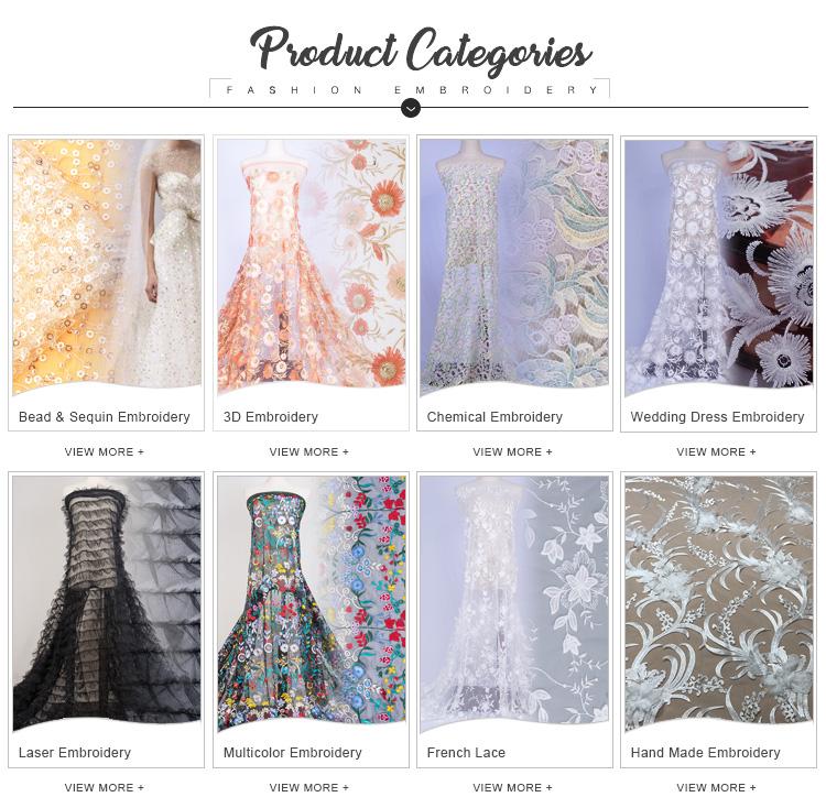 सफेद तितली उच्च गुणवत्ता वाले दूध रेशम 3d फीता फैंसी शादी की पोशाक कढ़ाई के कपड़े