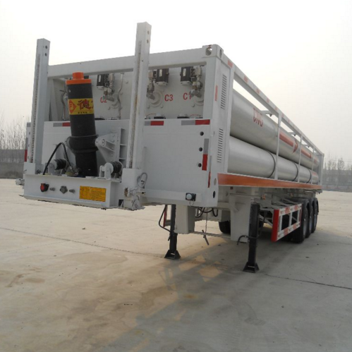Cng 10 Buis Semitrailer Cascade Skid Container Cng Tanker Trailer