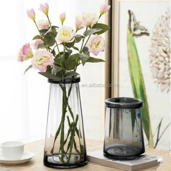 Colored Glass Vases Floral Glass Vases Europe Style Vase For Decoration Home Buy Tall Round Table Top Decorarion Crystal Glass Vases For Flower Arrangement Hot Sale Clear Tall Slim Cylinder Flower Glass