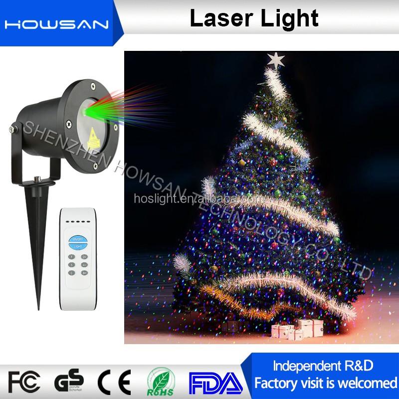 Imperméable à leau solaire motion sensor projecteur laser en plein air lumière De Noël