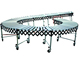 Vehicle loading offloading gravity flexible expandable extendable zinc-plated roller conveyor
