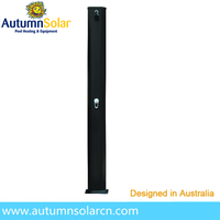 factory supply 45L black outdoor yard swimming pool solar shower