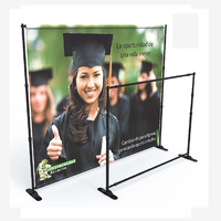 Step and Repeat Wall Backdrop Banner Stand