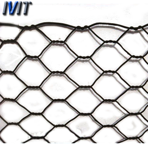 Green PVC Poultry Hex Netting / Aviary Game Bird Chicken Wire Fence