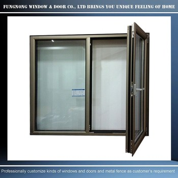 Horizontal Opening Pattern And Swing Open Style Aluminum Door And