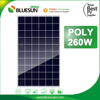 A grade solar panel module 260 watt 260w poly solar panel from China best manufacturer