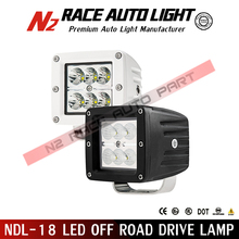 Best quality 0.1% defective off road 18w Cree led driving lights for SUV / pickup/ 4WD