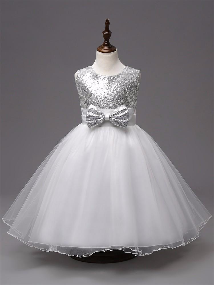 609f42f5d 2016 nueva llegada de verano lentejuelas vestido niñas princesa traje de  bebé 3 colores de boda