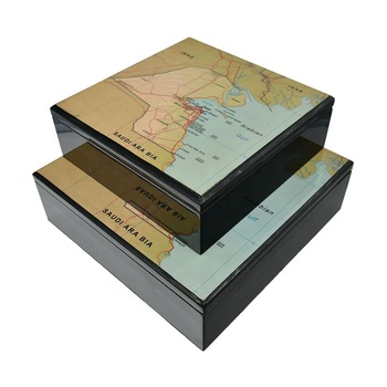 Custom arabic style high glossy gourmet dates wooden box gift