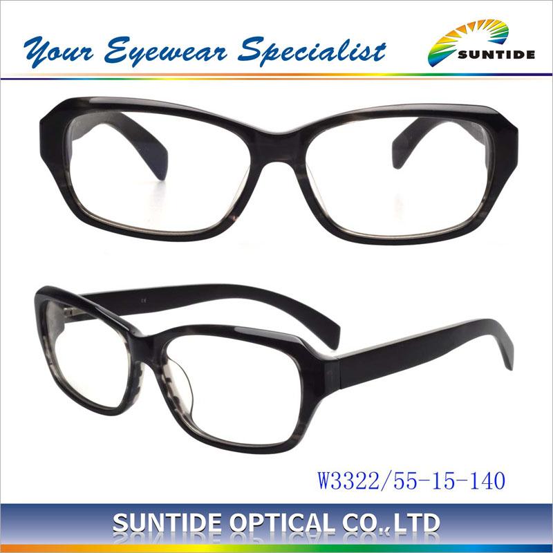 Estilo de madera marco de gafas ópticas superior qulitity de acetato ...