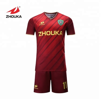 2018-2019 marshal soccer jersey set Zhouka football jersey customization OEM  service a98ab2e3e