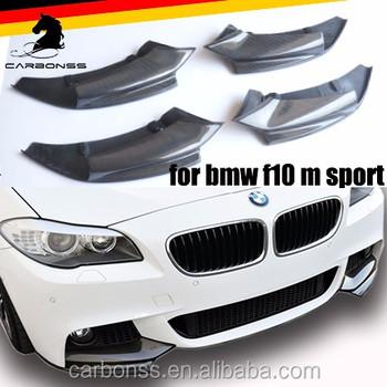 ac16682b372 CARBON FIBER BUMPER FRONT LIP SPLITTER M TECH TYPE FOR BMW 5 SERIES F10  2010-