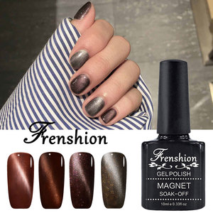 2017 Frenshion artificial diy design soak off gelaxy magic Magnet Cat eye color gel effect nail polish