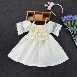 fashion baby girls lace palace princess dress