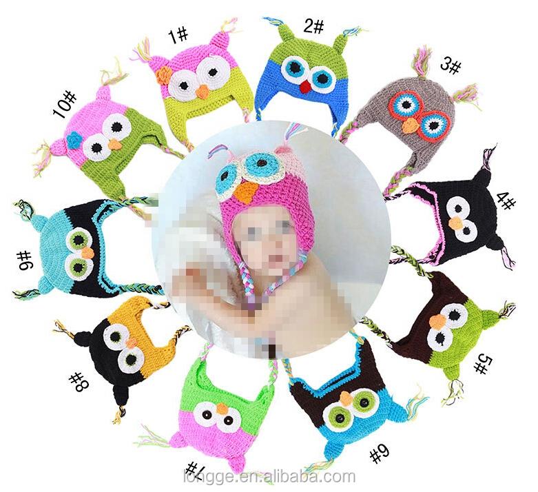 Multicolor infantil del niño hecho a mano de punto crochet sombrero ...