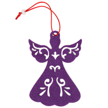 2018 Handmade Soft Christmas Tree Gold Angels Wings Hanging Ornament