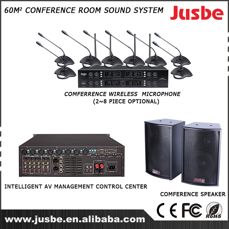 Experienced manufacture professional conference room sound system for 60 square meter conference room