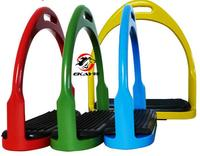 Color Classic Horses Ankles Aluminum Stirrup / Die Casting Process Without Holes Is More Dense And Firmer