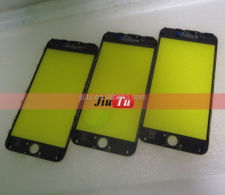 Original Cold Press Frame + Outer Glass Screen Installed For iPhone 6s plus For Lcd repair