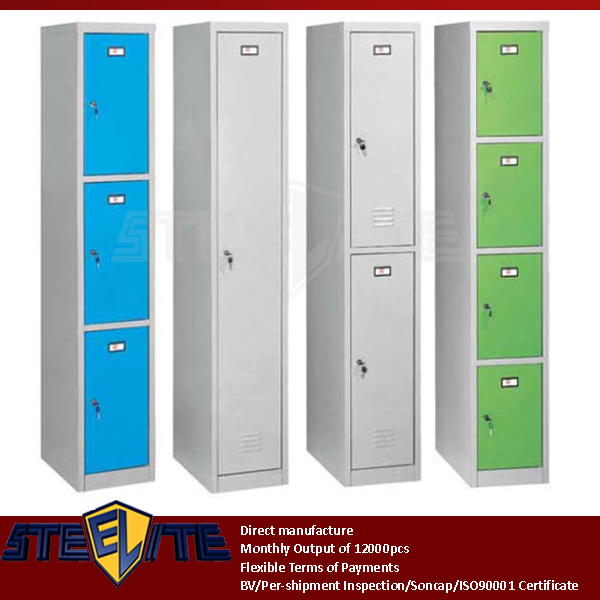 narrow 1&2&3&4 doors cheap metal school lockers/vertical thin portable metal wardrobe closets steel godrej cupboard furnituer