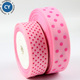 2018 most popular wholesale 38mm 1 1/2 inch pink double sided polka dot grosgrain ribbon for gift wrapping