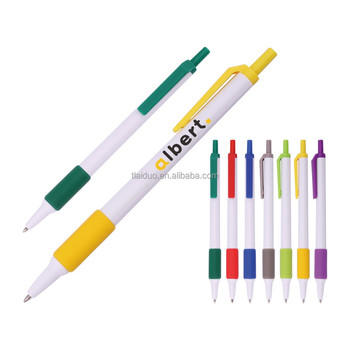 Custom Pens No Minimum Order Logo Smooth Writing High Quality Click Ball Pen With