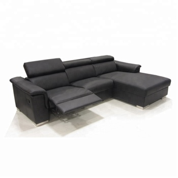 New L Shaped Sofa Designs Modern Genuine Leather Recliner Sofa Set