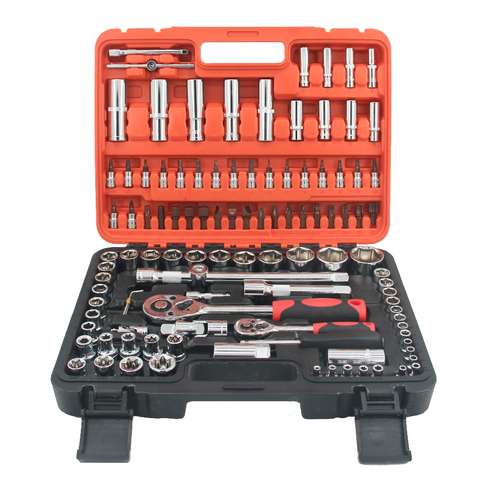 94PCS New Arrival Hand Steel Toolbox Spanner Set for Vehicle Repair