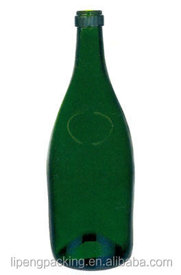 Hi-quality Unique Green Glass Bottle For Whisky