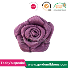 100% polyester rose ribbon rosette ribbon bow supplied by factory