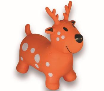 Wholesale Color Painting Cartoon Deer Kids Ride On Inflatable Pvc