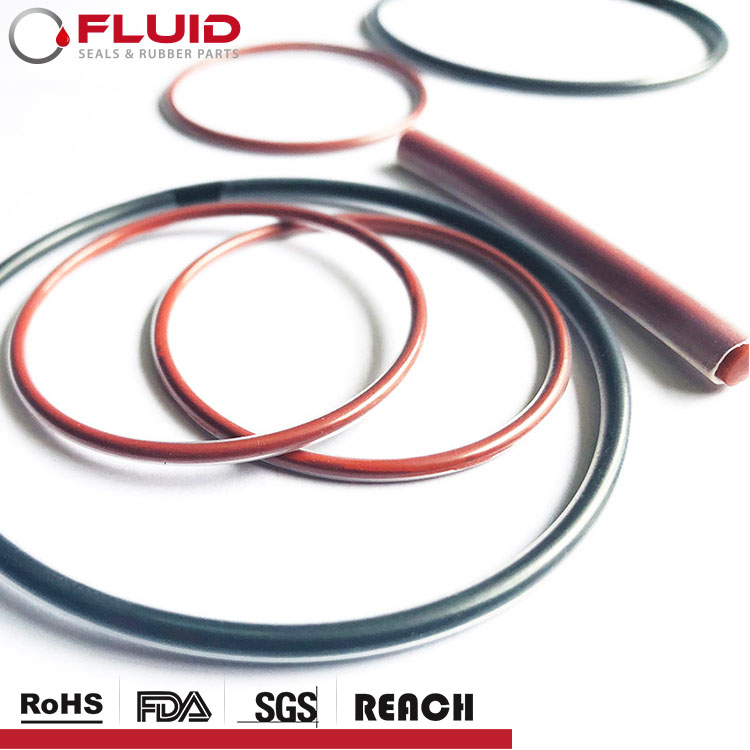 PTFE PFA FEP Incapsulato O anello Hollow FKM VMQ rivestito di Silicone O-ring