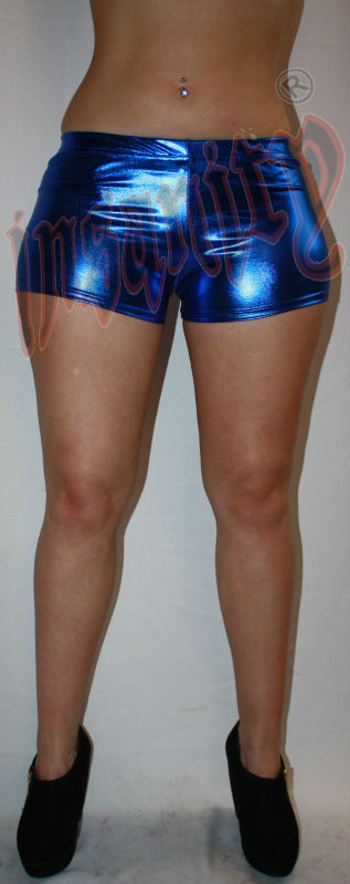 Blue Metallic Hotpants Shorts