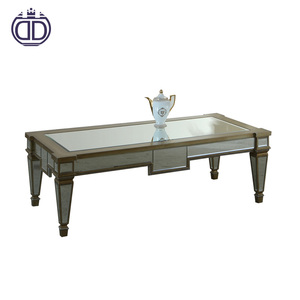 home furniture designer home decor mirrored furniture mdf glass coffee table design tea table end table living room furniture