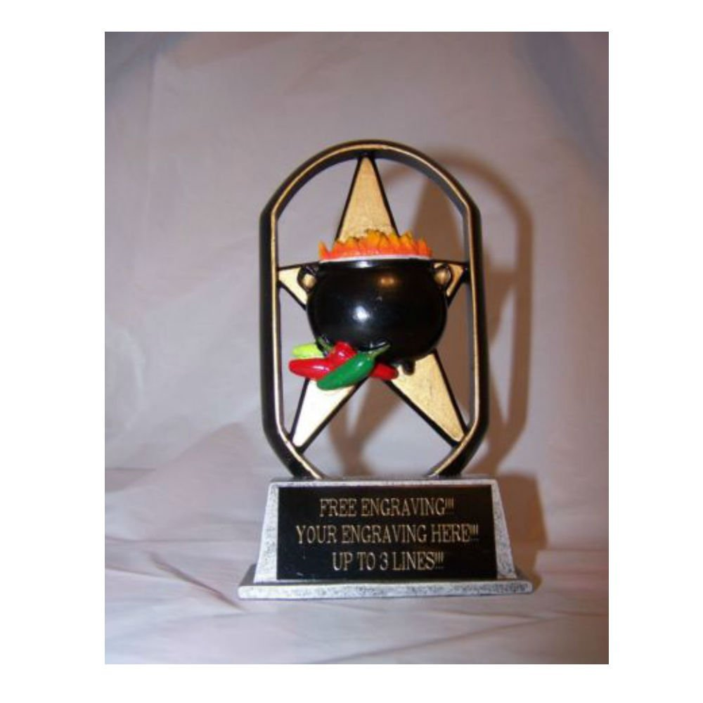 CHILI COOK-OFF TROPHY AWARD-CHILI POT COOKING CONTEST FIRST PLACE AWARD Top Selling Item
