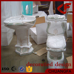 Quality sanitary ware decoration not fade stone colors toilet A-988