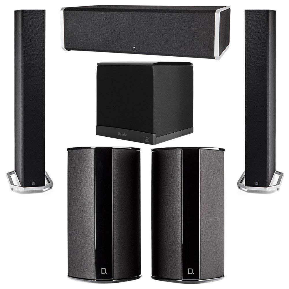 Definitive Technology 5.1 System with 2 BP9060 Tower Speakers, 1 CS9060 Center Channel Speaker, 2 SR9080 Surround Speaker, 1 Definitive Technology SuperCube 6000 Powered Subwoofer