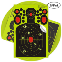 2018 Factory Custom Shooting Splatter Targets Triple Silhouette Reactive Shooting Target