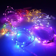 Battery Operated 7.2ft 20 Led Fairy String Lights, Firefly Lights Multi Colors Christmas Copper Wire Led Lights for DIY