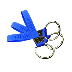 Hot promotional items rubber product silicone keychain with custom logo