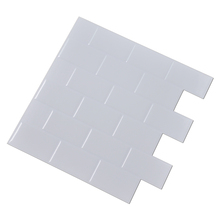 High Quality Modern Wall kitchen sticker Tiles Peel and Stick Subway White Wall Tile Subway White for Kitchen, Bathroom